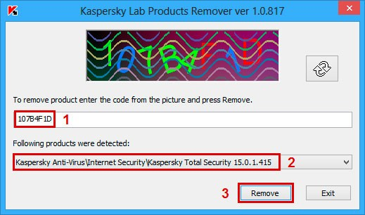 Окно выбора удаляемого приложения в KL Remover