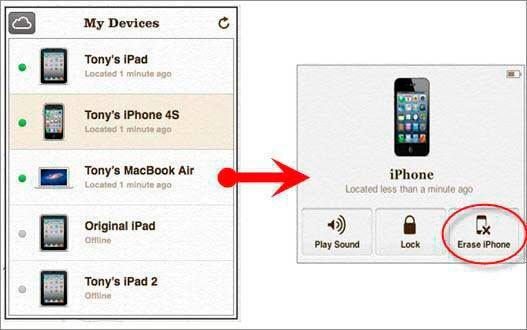 Сброс пароля iOS