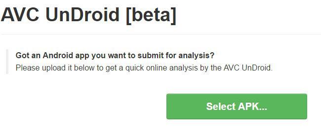 Сайт антивируса онлайн AVC UnDroid