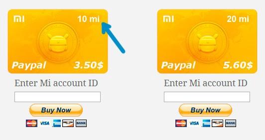 Обмен долларов на Mi credits