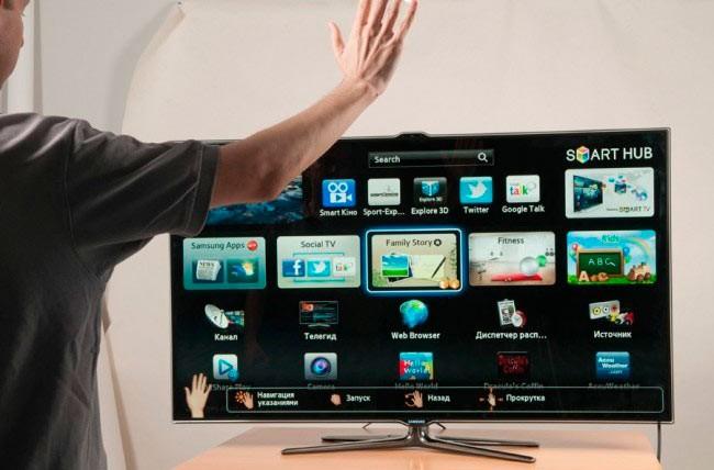 Управление телевизором жестами