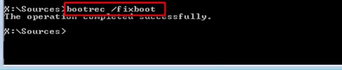 exe /fixboot.