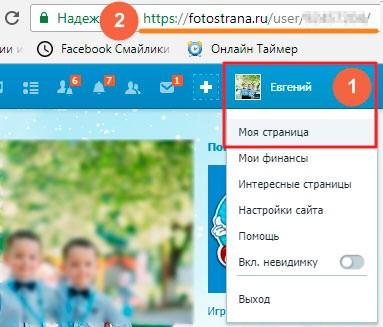 Идентификатор пользователя Фотострана