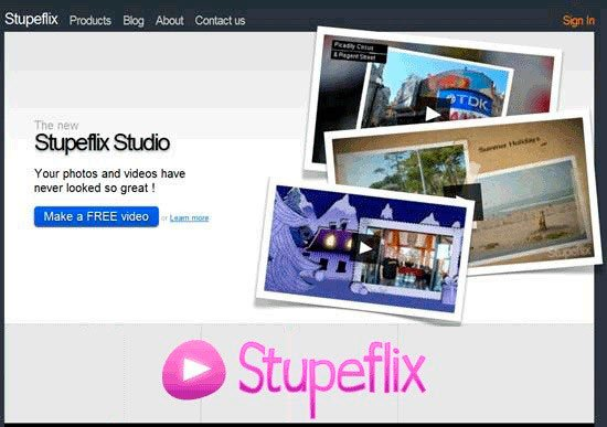 Главная страница Stupeflix