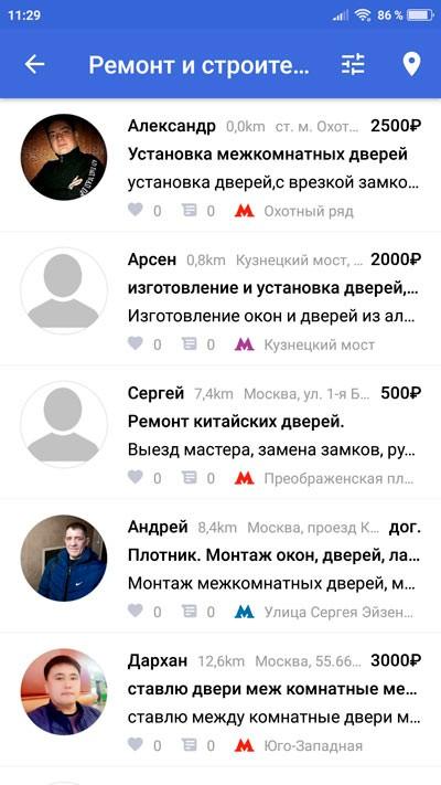 Список специалистов Безруких.нет