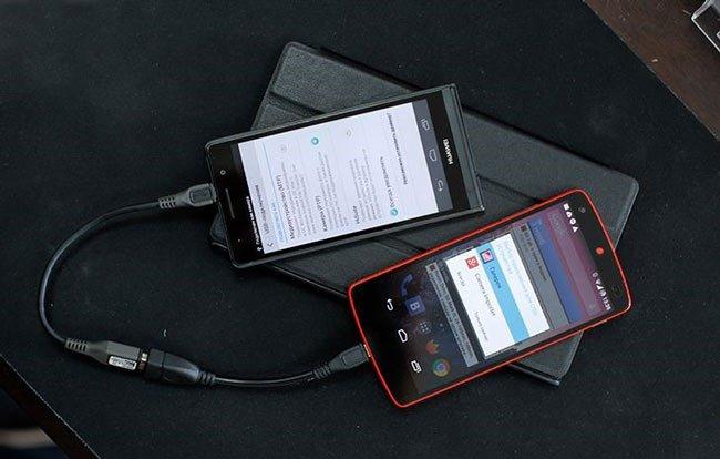 Соединение двух смартфонов
