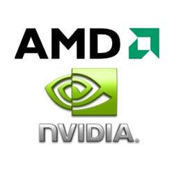 логотипы amd nvidia