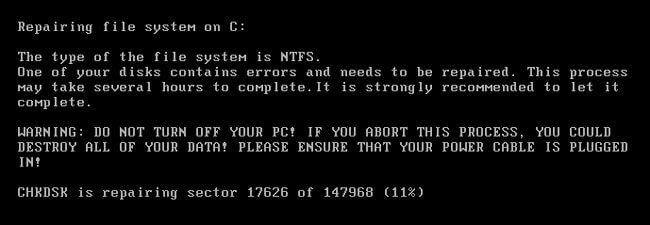 Процесс шифрования загрузочных записей вирусом Petya