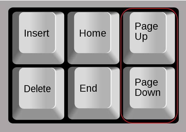 Что делает кнопка ctrl и page up