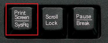 Расположение клавиши PrtSc