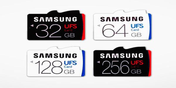 Четыре UFS карты памяти