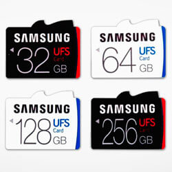 Компания Samsung выпустила сверхскоростные UFS карты памяти