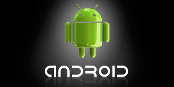 Просто эмблема Андроид с надписью