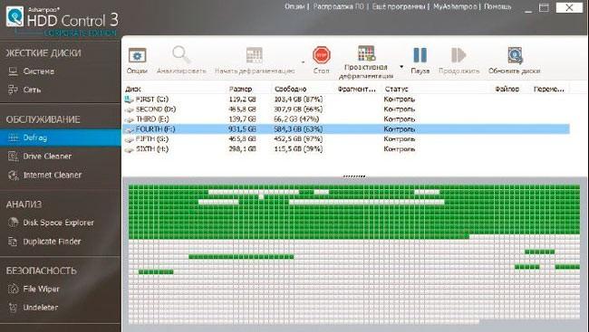Ашампу HDD контрол