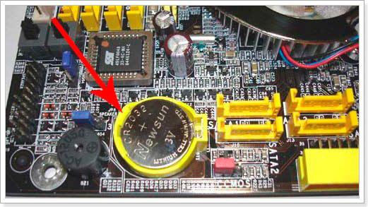 Так выглядит батарейка БИОС
