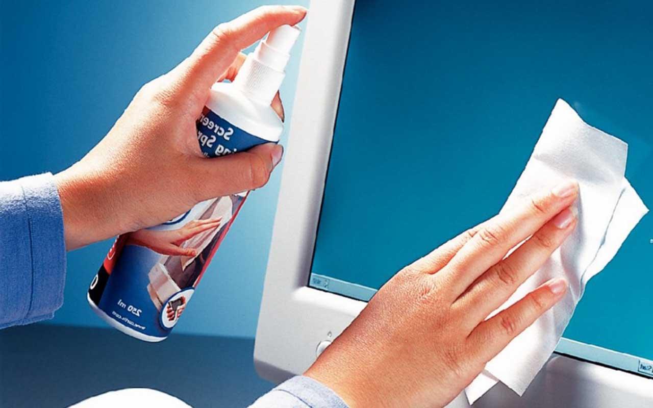 чистить экран