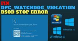 5 способов, как можно исправить ошибку DPC WATCHDOG VIOLATION в ОС Windows 10
