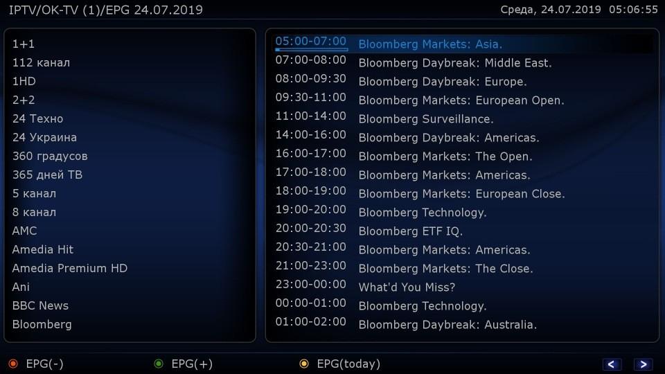 EPG в IPTV