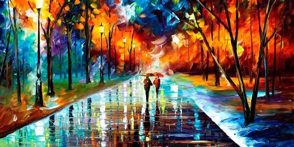 Парочка под зонтом