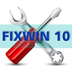Исправление ошибок Windows 10 в FixWin