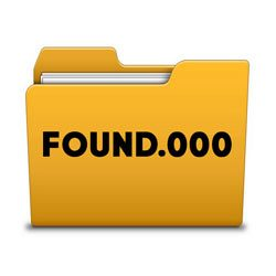 Что за папка FOUND.000 и файлы FILE0000.CHK?