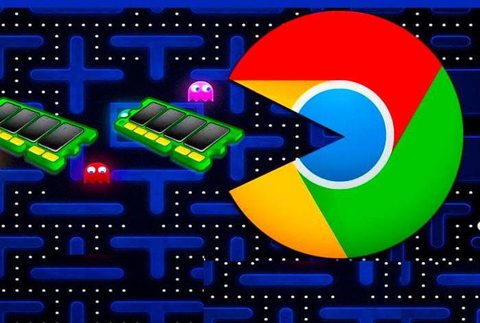 google chrome eats ram