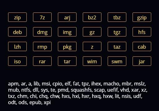 Типы файлов Hamster