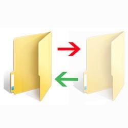 Две папки со стрелками