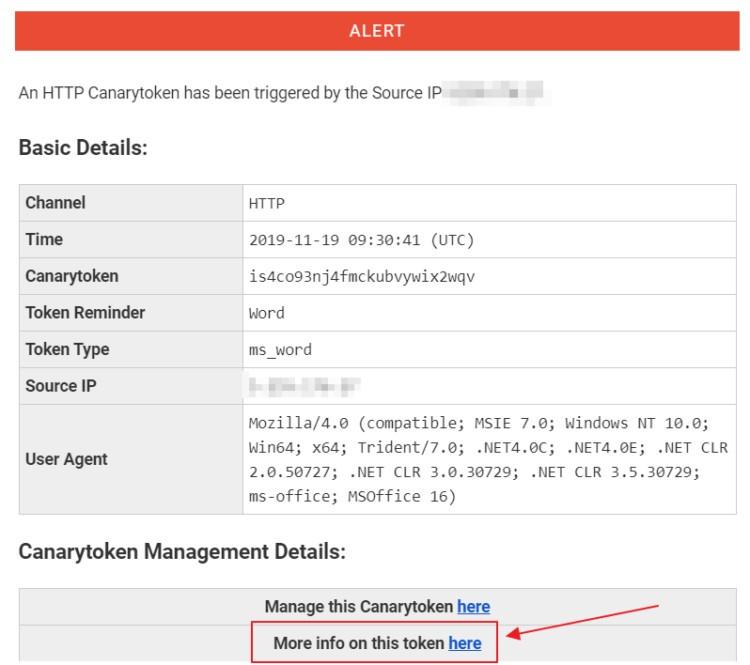 Как вычислить хакера, пытающегося получить доступ к Вашим личным данным - используем CanaryTokens