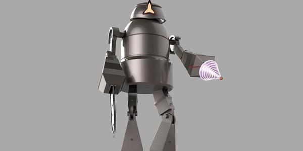Робот с резиновой кожей