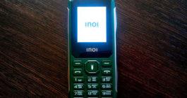 Крепкий кнопочный телефон INOI 106Z с расширенным мультимедийным функционалом