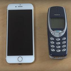 iPhone 7 против Nokia 3310 — кто быстрее?