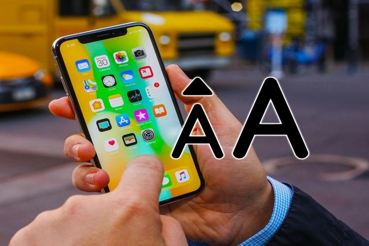 Как сделать большой шрифт на Айфоне