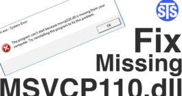 Как на Windows 10 исправить ошибку Система не обнаружила msvcr110 dll