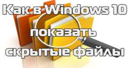 Как показать и включить скрытые папки в Windows 10 – 5 способов и топ-3 утилиты