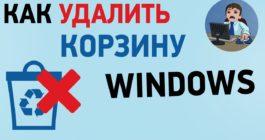 Как убрать корзину полностью или скрыть ярлык на Рабочем столе в ОС Windows 10