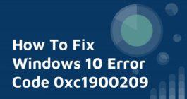 Как исправить ошибку с кодом 0xc1900209 при обновлении Windows 10 – 3 способа