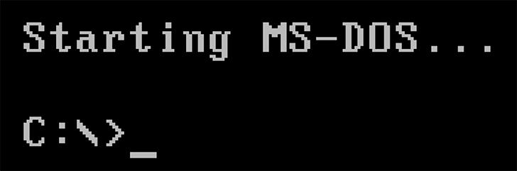запуск ms-dos