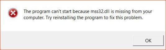 error mss32