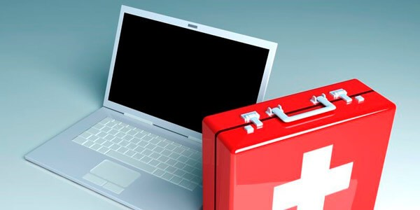 Ноутбук с антивирусной аптечкой