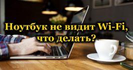 Что делать, если ноутбук не видит сети Wi-Fi в Windows 10