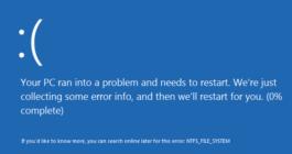 3 способа исправления ошибки NTFS.sys, синего экрана в системе Windows 10
