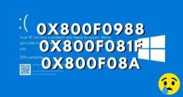 3 способа исправления ошибки 0x800f0988 при установке обновления Windows 10