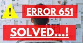 6 способов исправления ошибки 651 при подключении к интернету на Windows 10