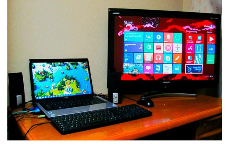 Как подключить ноутбук к телевизору через WiFi без проводов, HDMI кабелем