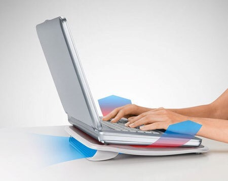 Подставка со встроенным вентилятором для охлаждения ноутбука