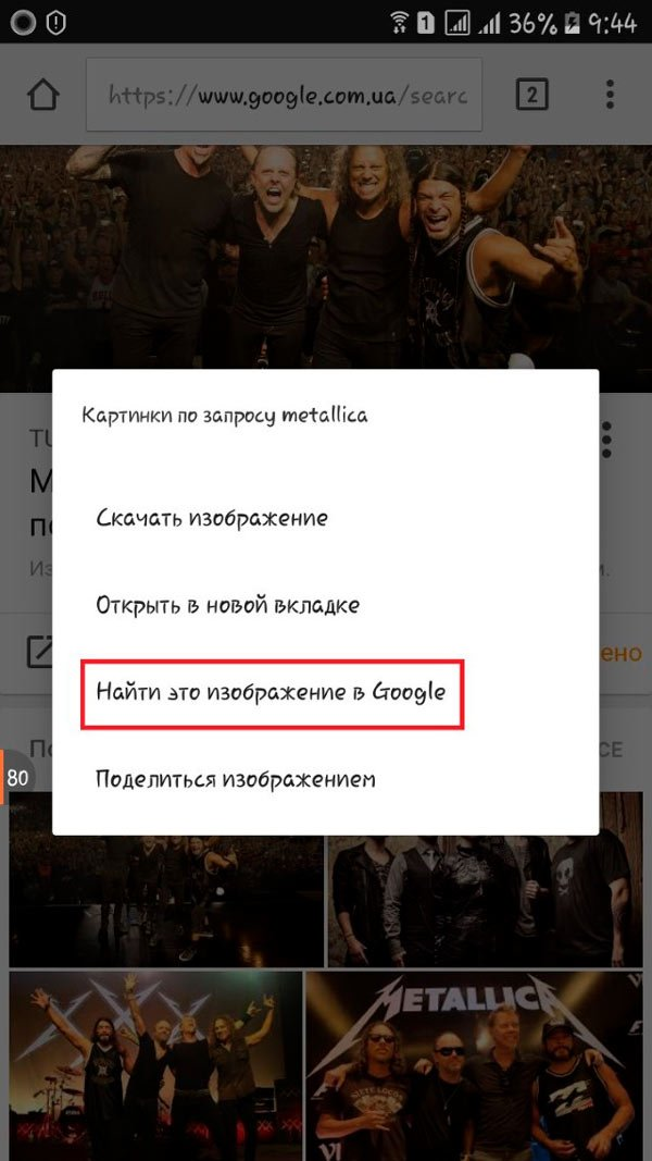 Кнопка поиска картинки в Google