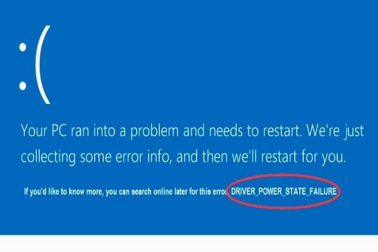 DRIVER POWER STATE FAILURE в Windows 10