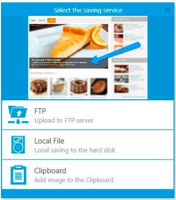 Варианты сохранения в Carambis Скриншотер