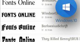 Как восстановить стандартные шрифты, если они слетели на ОС Windows 10